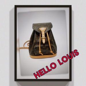 RARE LV Montsouris original Mini Backpack May 1997